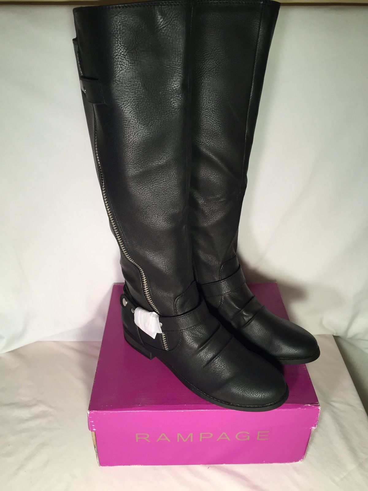 rage iverlee s knee high black sm boots